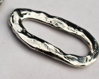 Links Oval Artisan Sterling Silver