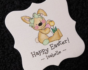 Personalized Easter Tags - Candy Tags - Bag Tags - Party Favor Tags - Goodie Bag Tags - Goody Bag Labels - Easter Bunny