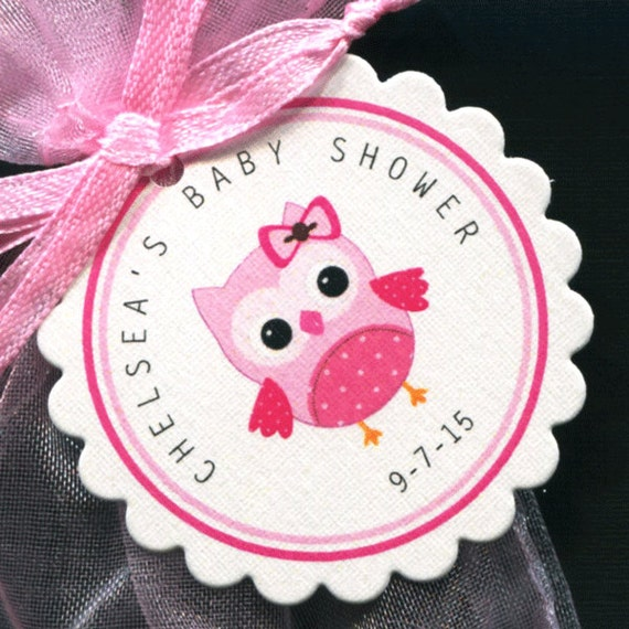 Personalized Baby Girl Baby Shower Favor Tags Baby Shower Etsy