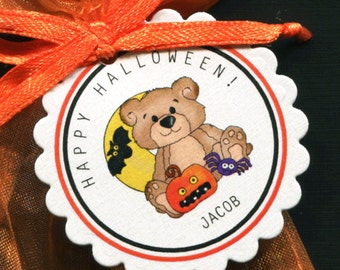 Halloween Tags - Personalized Halloween Tags - Halloween Favor Tags - Candy Tags - Cookie Tags - Bag Tags - Halloween Party Tags