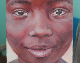 Custom Close-Up Oil Painting Portrait in Color from Your Picture