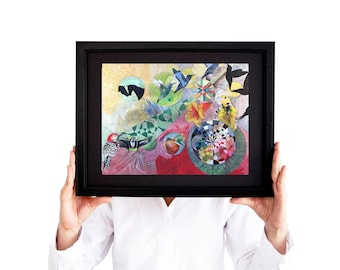 Love Found Art Print - 11x14 - Limited Edition Giclée - Moi et Toi - Wanderlust - Sweetheart Home Decor - Hummingbird Art Work - Bird Print