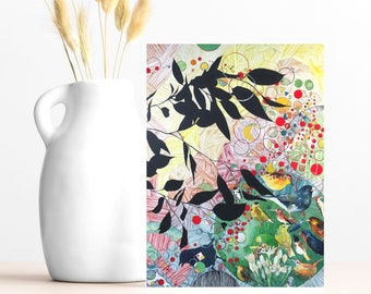 """Buy 4 Cards, Get a 5th Free - """"Good Times"""" Greeting Card w/ Envelope - 5x7 - Bird Card - Bee Lover - Wanderlust - Nature Inspired Gift Card"""