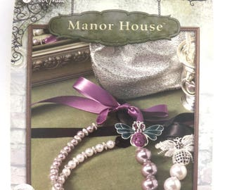 "Bead Book Jewelry Pattern Book Blue Moon Beads® ""Manor House"" Beading Instruction Book 13 Projects 8x5.5 in. - 1 pc. - 0001-S - New"