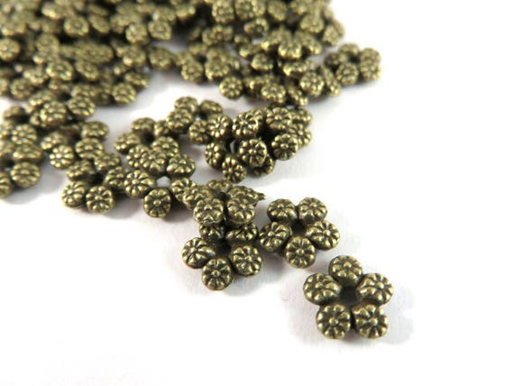 60 pcs Jewelry supplies-Crimp Bead cover Gold plated 7.5mm