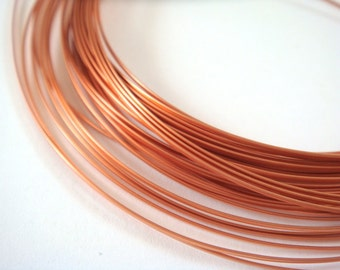 21 ft Copper Wire 1/2 Round 18 Gauge Soft Tempered Non Tarnish Shiny - 21 ft - STR9064WR-HRC21