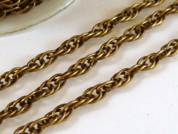 2 Metres x Iron Twist Chain 6mm x 3mm Antique Bronze NF /& LF Chains Findings