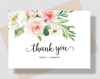 deer thank you cards custom personalized notecard name stationary set  personalized stationary  flat note card