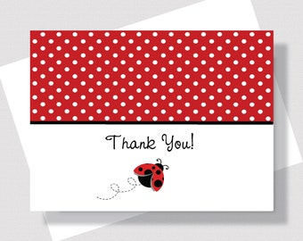 Personalized Folded Note Cards For Girls size A2 Butterflies and Lady Bugs