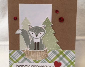 Foxy Anniversary Card