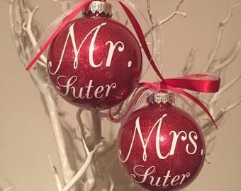 Mr & Mrs Christmas Baubles