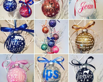 10 x Personalised Christmas Baubles