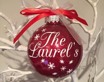 Family Name Christmas Bauble