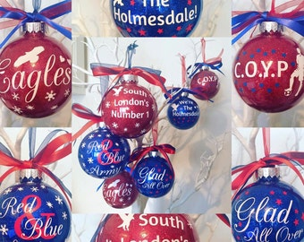 bb8b73e8c0d Crystal Palace FC themed Christmas Bauble Ornament