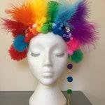 Rainbow festival headdress