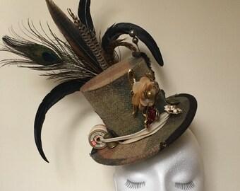 Custom Medium size Mini Top Hats by Cat the Milliner