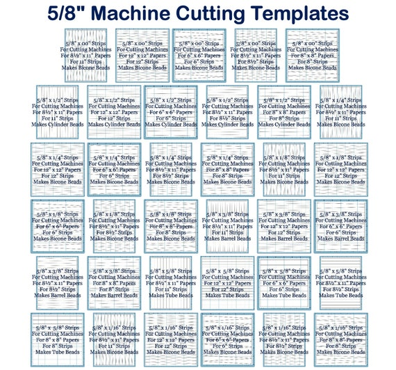 Machine Cutting Templates for 5/8