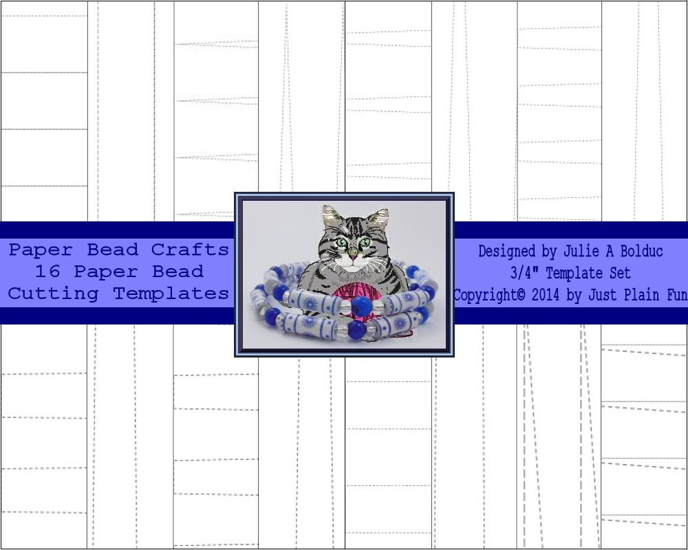 16 Cutting Templates For 34 Long Paper Beads Including Etsy