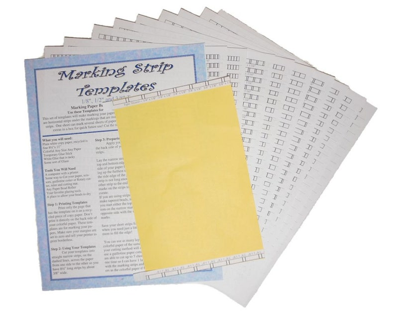 1 Universal Paper Bead Sheet Marking Templates to make image 0