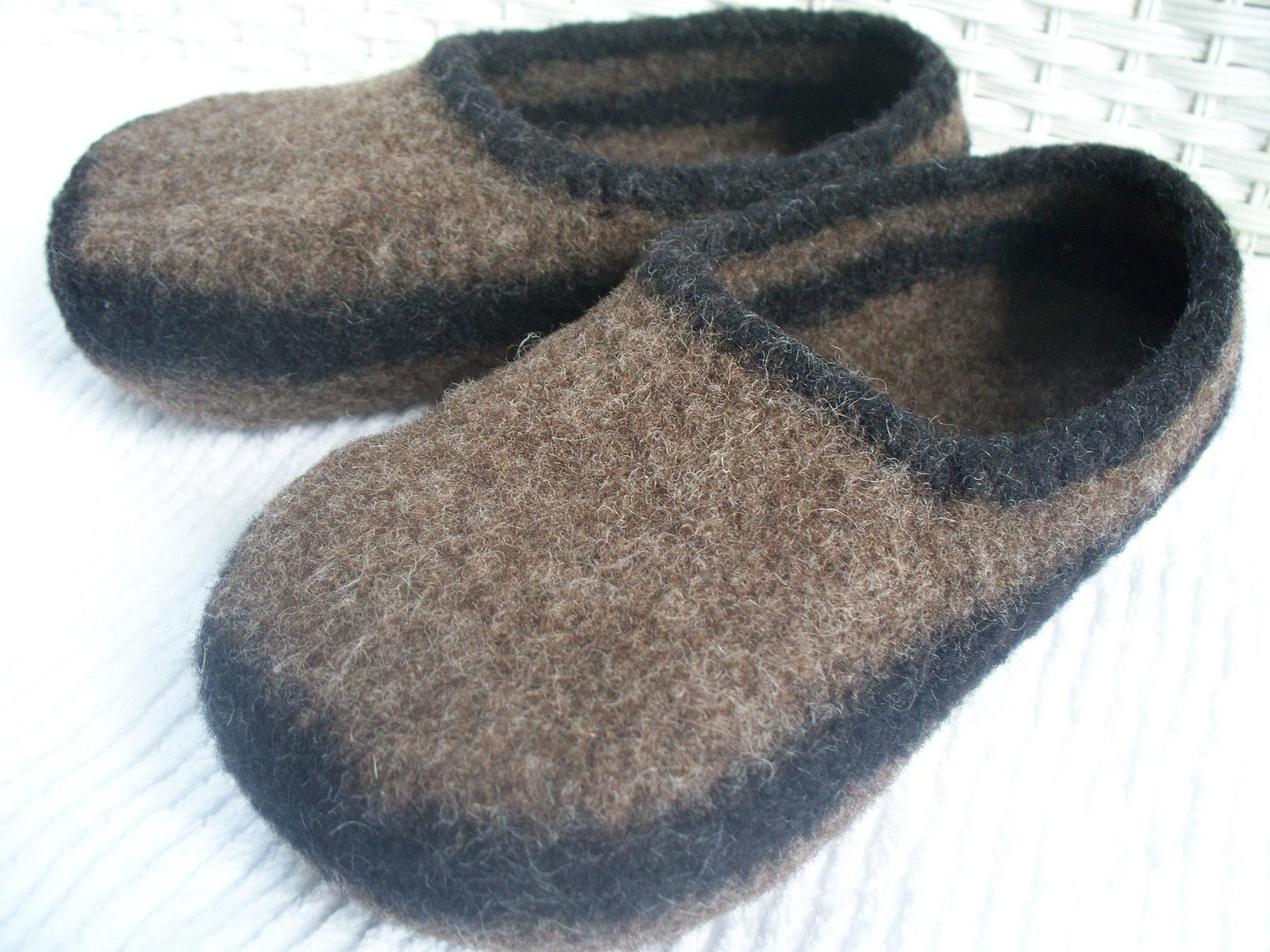 18ffadcc923 felted wool slippers, wool slippers, brown wool slippers, boiled wool  slippers, mens slippers, womens slippers, womens felted wool slippers