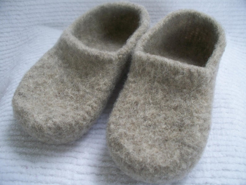 e7bc79f54d69c Wool shoes in Oatmeal wool slippers womens custom slippers felted wool  slippers free shipping