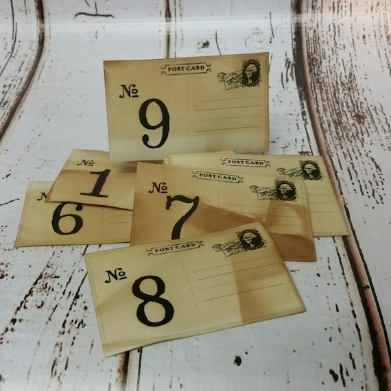 2 x 3 Rectangle Post Card Style Table Number Tags Seat Placement Cards