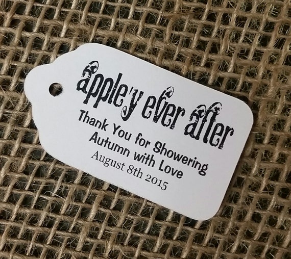 "Appley Ever After SMALL 2"" Favor Tag Choose your quantity Happily ever after shower tag"