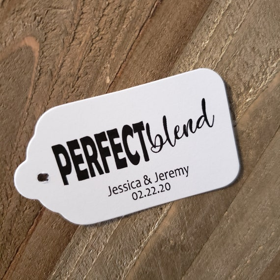 Perfect Blend MEDIUM Personalized Wedding Favor Tag  choose your amount