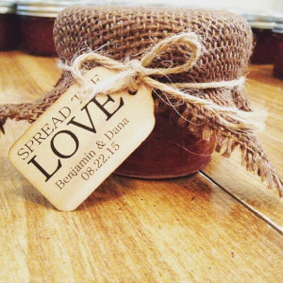 "Spread The Love Choose your quantity SMALL 2"" Favor Tag"