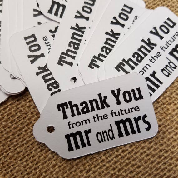 "Thank you from the Future Mr and Mrs SMALL 2"" Favor Tag"