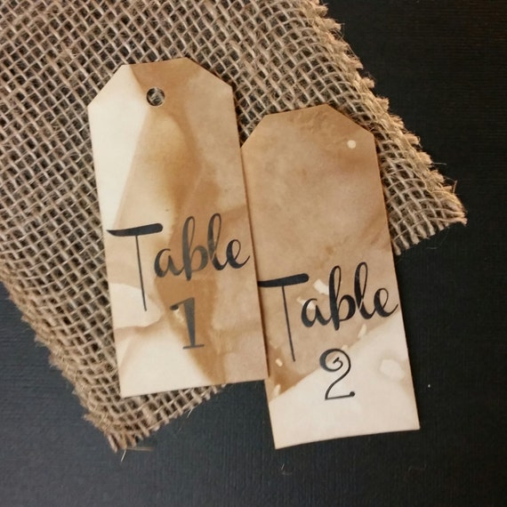 Table Number Tags 4 font choices choose your quantity Choose your Font