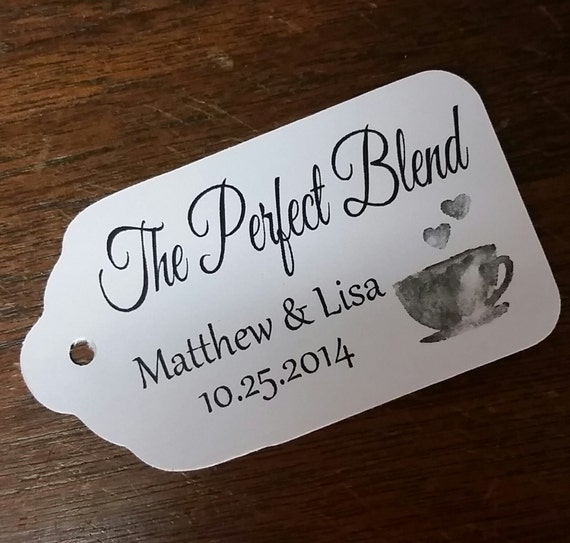 "Perfect Blend Choose your quantity SMALL 2"" Favor Tag"