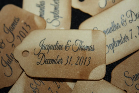 "Personalized Favor Tag Choose your quantity x-SMALL 1 5/8""  x  7/8"" Favor Tag"
