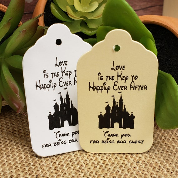 """Love is the Key to Happily Ever After (my LARGE tag) 1 3/4"""" x 3 1/4"""" non personalized tags"""