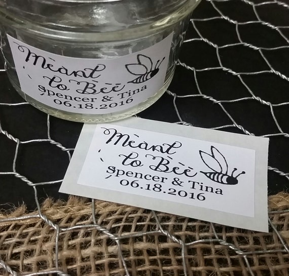 """Meant to Bee Sticker Favor 1.25"""" x 2.25"""" STICKER choose your amount Envelope Seal"""
