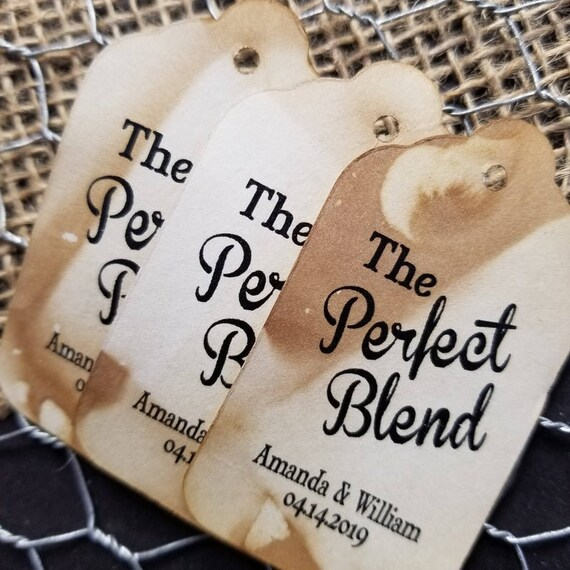 "Perfect Blend(my SMALL tag) 1 1/8"" x 2"" keepsake souvenir party Favor Tag"