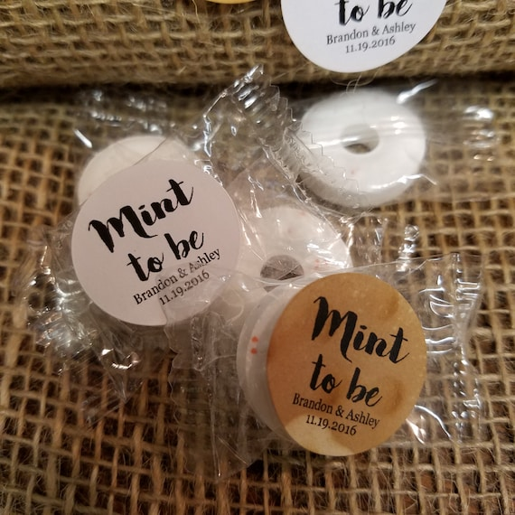 "Mint to Be SMALL 1"" STICKER Personalized Wedding Engagement Shower Favor STICKER choose your amount"