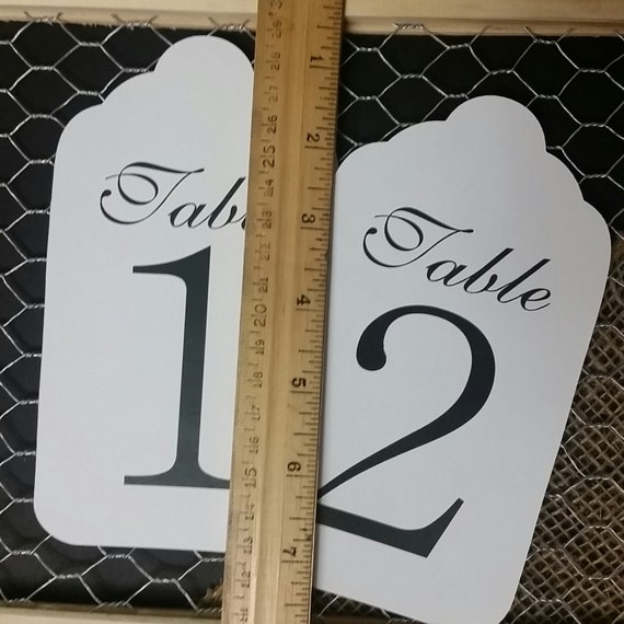 "LARGE Table Number Tags 6 1/2"" x 3 1/2"" choose your quantity"