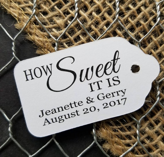 "How Sweet it is SMALL 2"" Favor Tag"