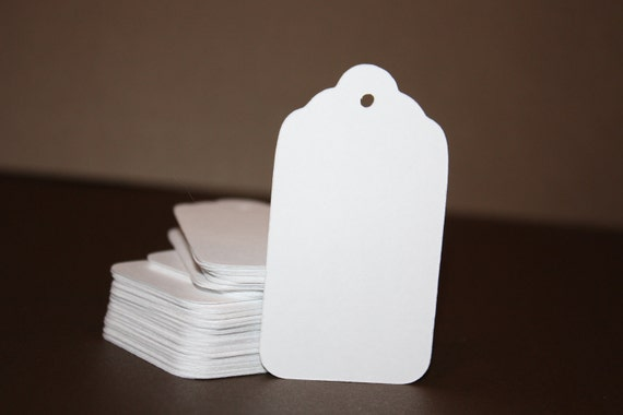 White Cardstock Tags 100 LARGE white card stock price tags