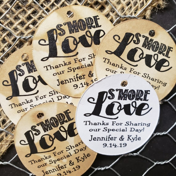 Smore Love Thanks for sharing our special day Personalized Party Wedding Shower Favor 1.5inch ROUND tag