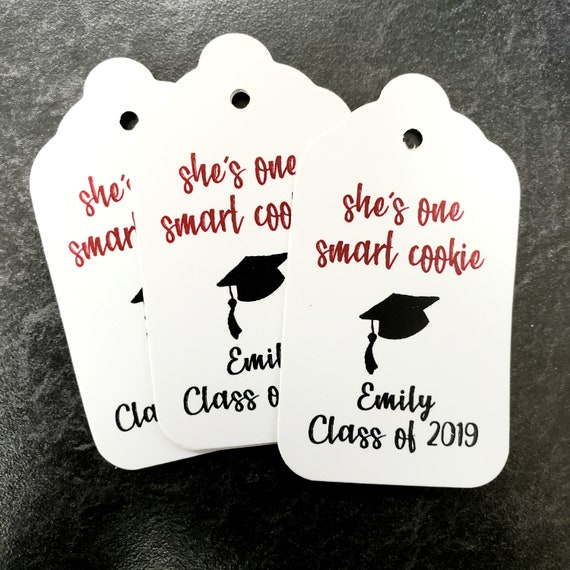 Smart Cookie Class of MEDIUM Personalized Graduation class of Favor Tag CHOOSE your amount