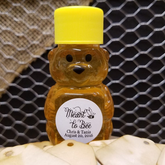 """Meant to Bee 1"""" STICKER Personalized Wedding Engagement Shower Favor STICKER choose your amount"""