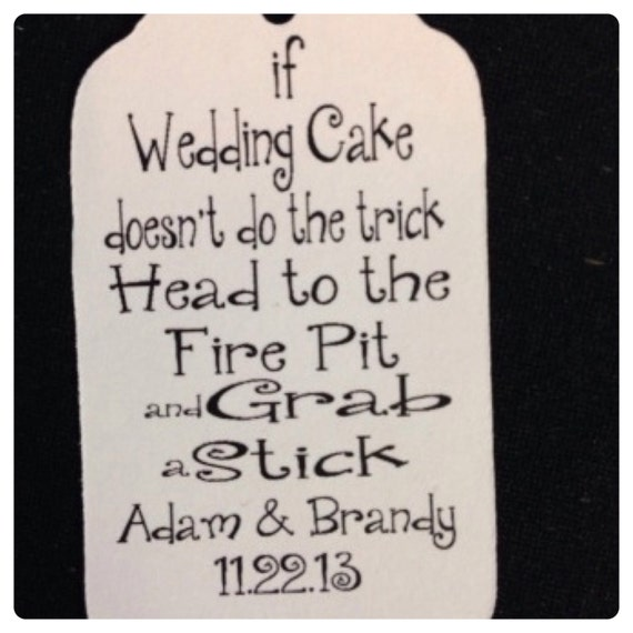 50 Tea Stained or white card stock Wedding Cake S'more Tag