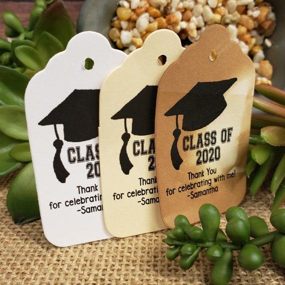 "Class Of Graduation Tag (my MEDIUM tag) 1 3/8"" x 2 1/2"" Personalized Graduation Favor Tag Congratulations Graduate Graduation Thank you"
