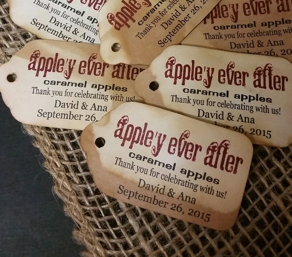 Appley Ever After MEDIUM Favor Tag Choose your quantity Happily ever after