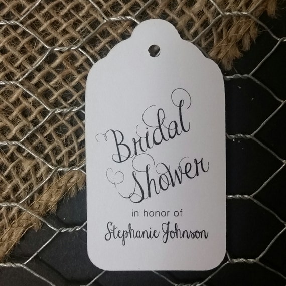 Bridal Shower in honor of MEDIUM Personalized Wedding Favor Tag Shower Tag  choose your amount