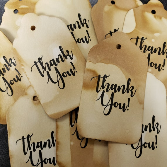 "Thank You (my MEDIUM tag) 1 3/8"" x 2 1/2""  NON-Personalized tag Choose your quantity"
