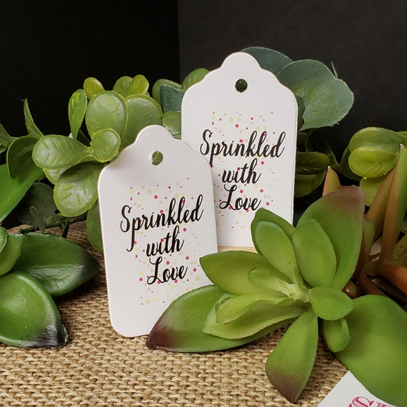 """Sprinkled with Love SMALL 2"""" Favor Tag NON-personalized"""