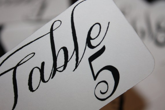 Table Number Tags 3 1/4  x 1 3/4 choose your quantity